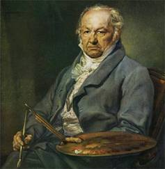 Goya painted by Vicente López